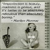 Marilyn Monroe Amazing Quote on Imperfection
