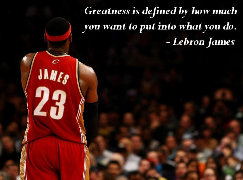 Lebron James Inspirational Quote