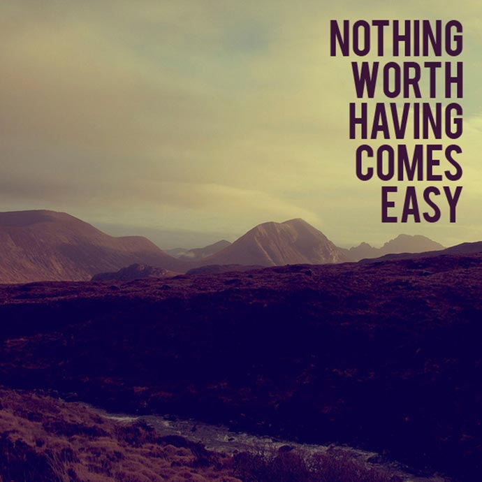 Nothing Worth Having Comes Easy Inspirational Quotes Timer