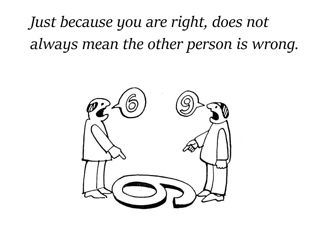 Right and Wrong Depends on Perspective