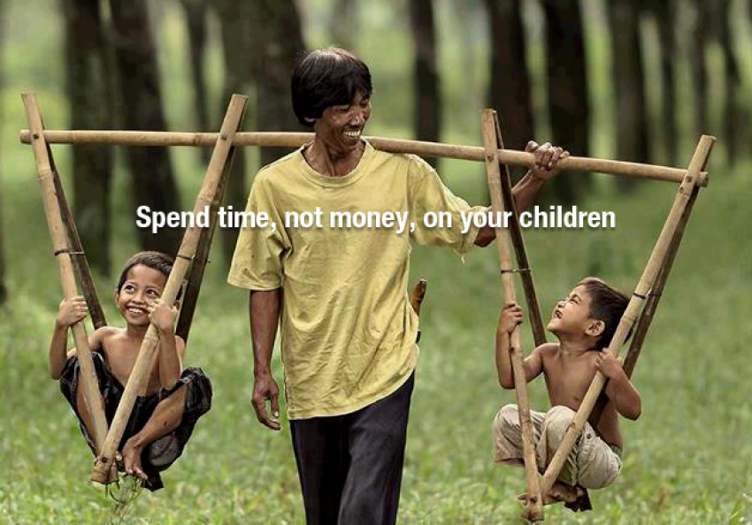 Spend Time Not Money On Your Children Inspirational Quotes Timer